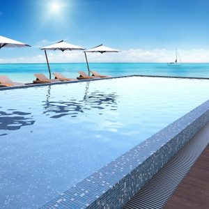 Paradise Madagascar Pool Safe Mosaic tiles